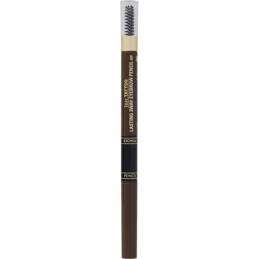 Bút Vẽ Lông Mày 3 Đầu K-Palette Eyebrow Pencil Chống Nước Lâu Trôi 24h  (04 Màu nâu xám)