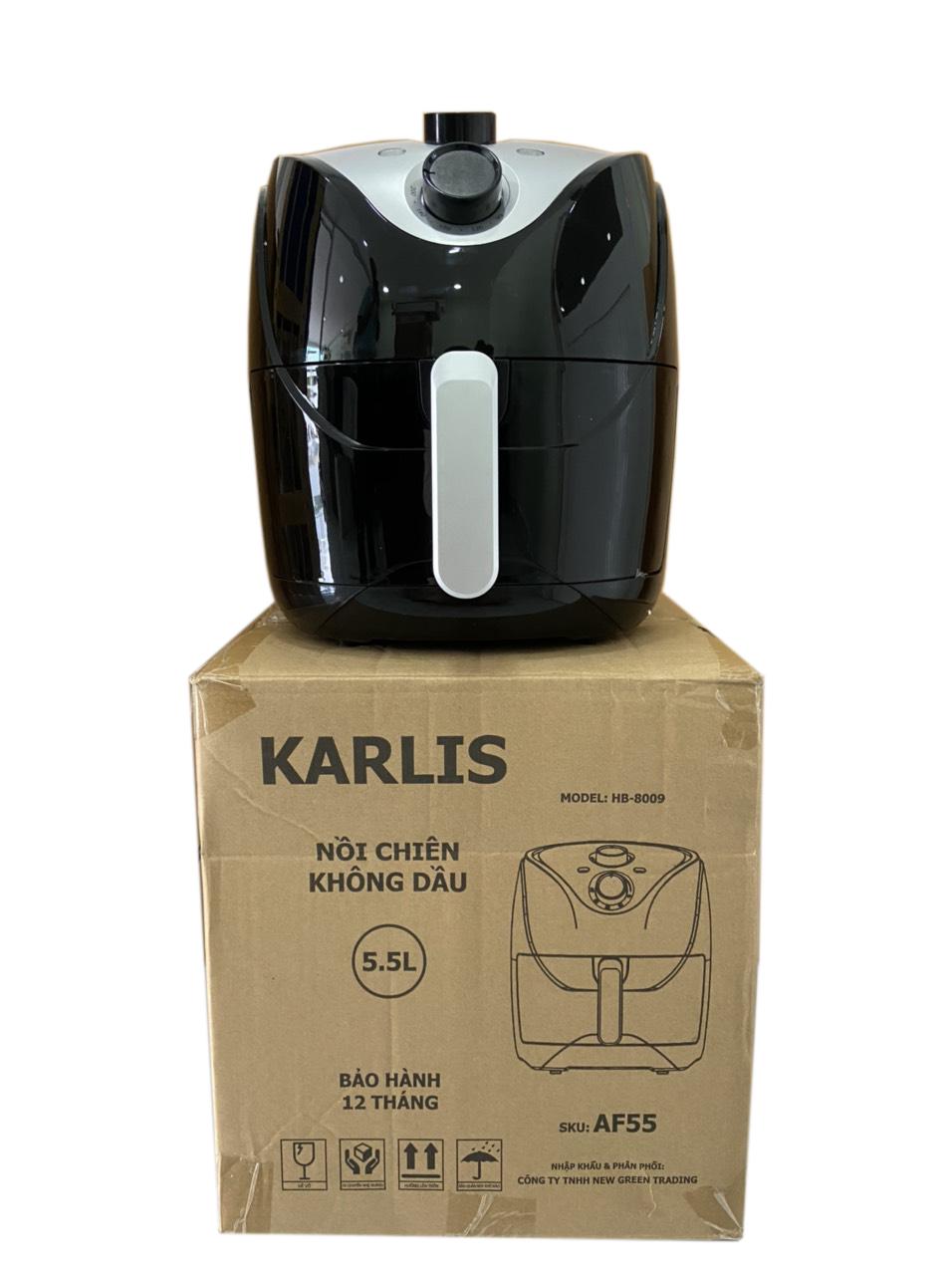 Nồi chiên không dầu dung tích lớn 5.5L Karlis (hàng nhập khẩu)