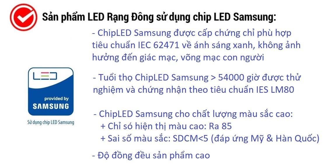 Bóng Đèn Tròn 5W Rạng Đông - Samsung ChipLED