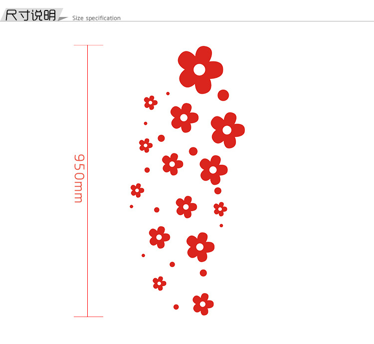 Bộ decal trang trí dán tường 3D sáng tạo cao cấp (M7) hình hoa