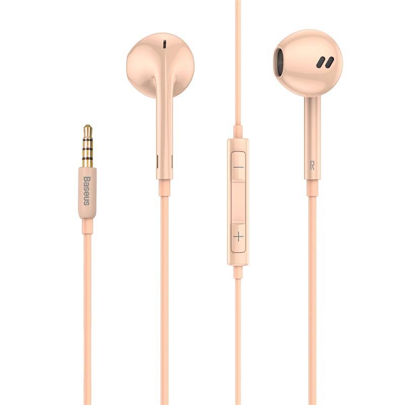 Tai nghe có dây Baseus Encok H16 Wired Earphone 3.5mm (1.2m , tích hợp micro đàm thoại chất lượng cao) - Hàng Chính Hãng
