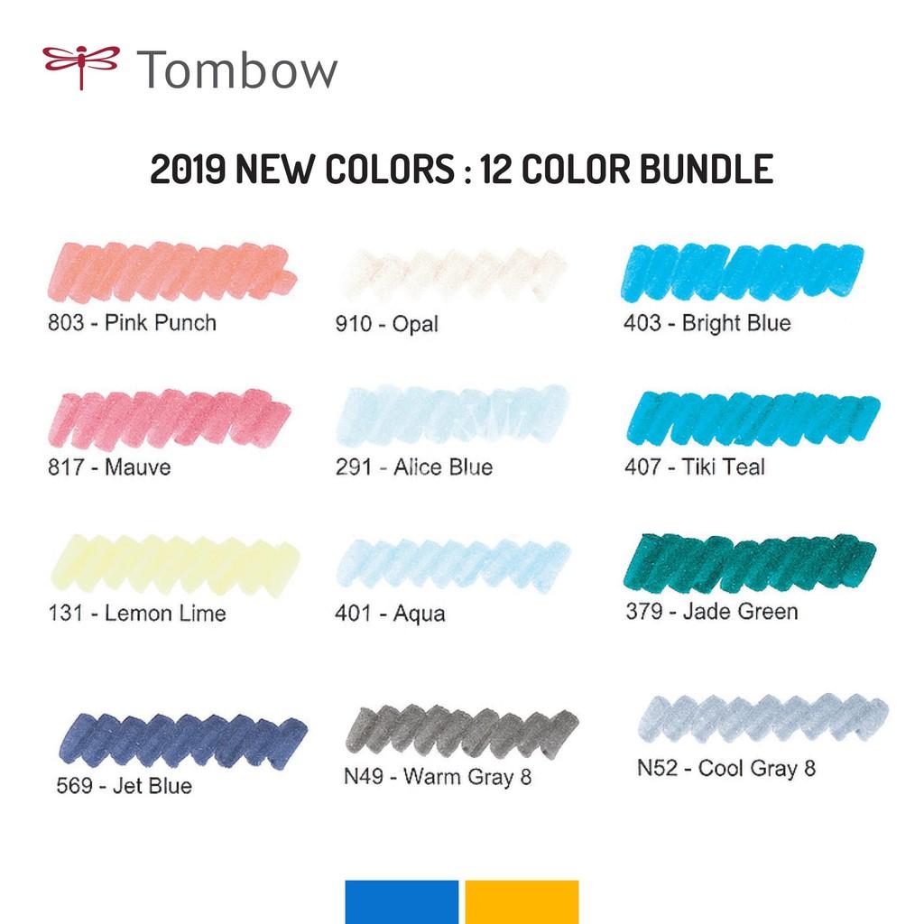 Bộ 12 Bút Tombow Dual Brush màu mới 2019