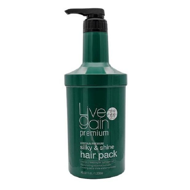 Dầu hấp tóc Livegain Premium Silky & Shine Hair Pack  suôn mượt nước hoa Korea 1200ml