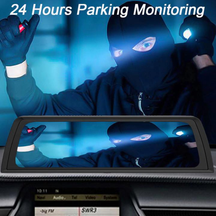 Camera hành trình Whexune V900 đặt taplo ô tô 4G, wifi, android 8.1, 10 inch tích hợp cam lùi - Ram: 4GB LPDDRⅢ, Rom: 32GB - Hàng Nhập Khẩu
