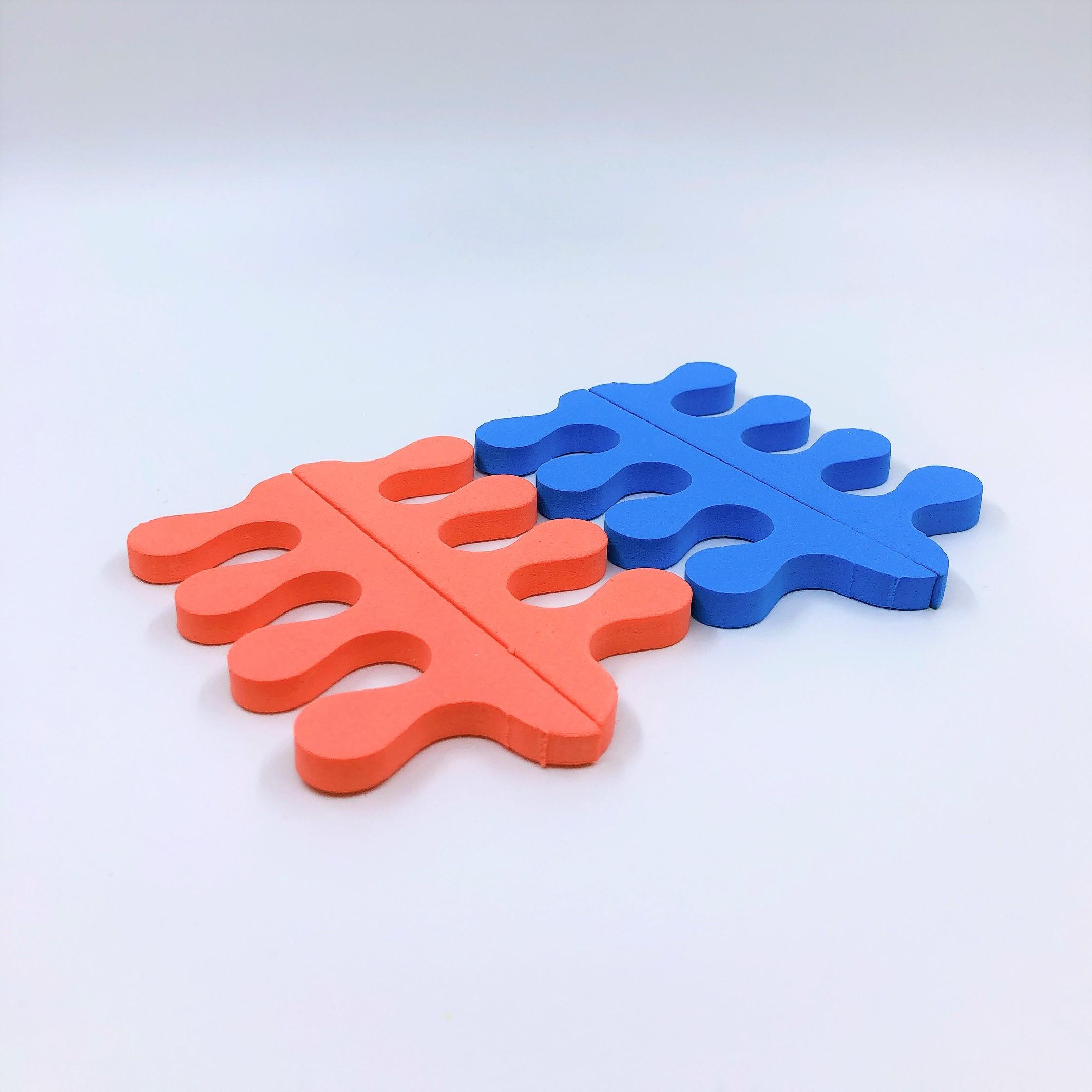 Set 8 cặp tách ngón làm móng - 3 lỗ (giao màu ngẫu nhiên)