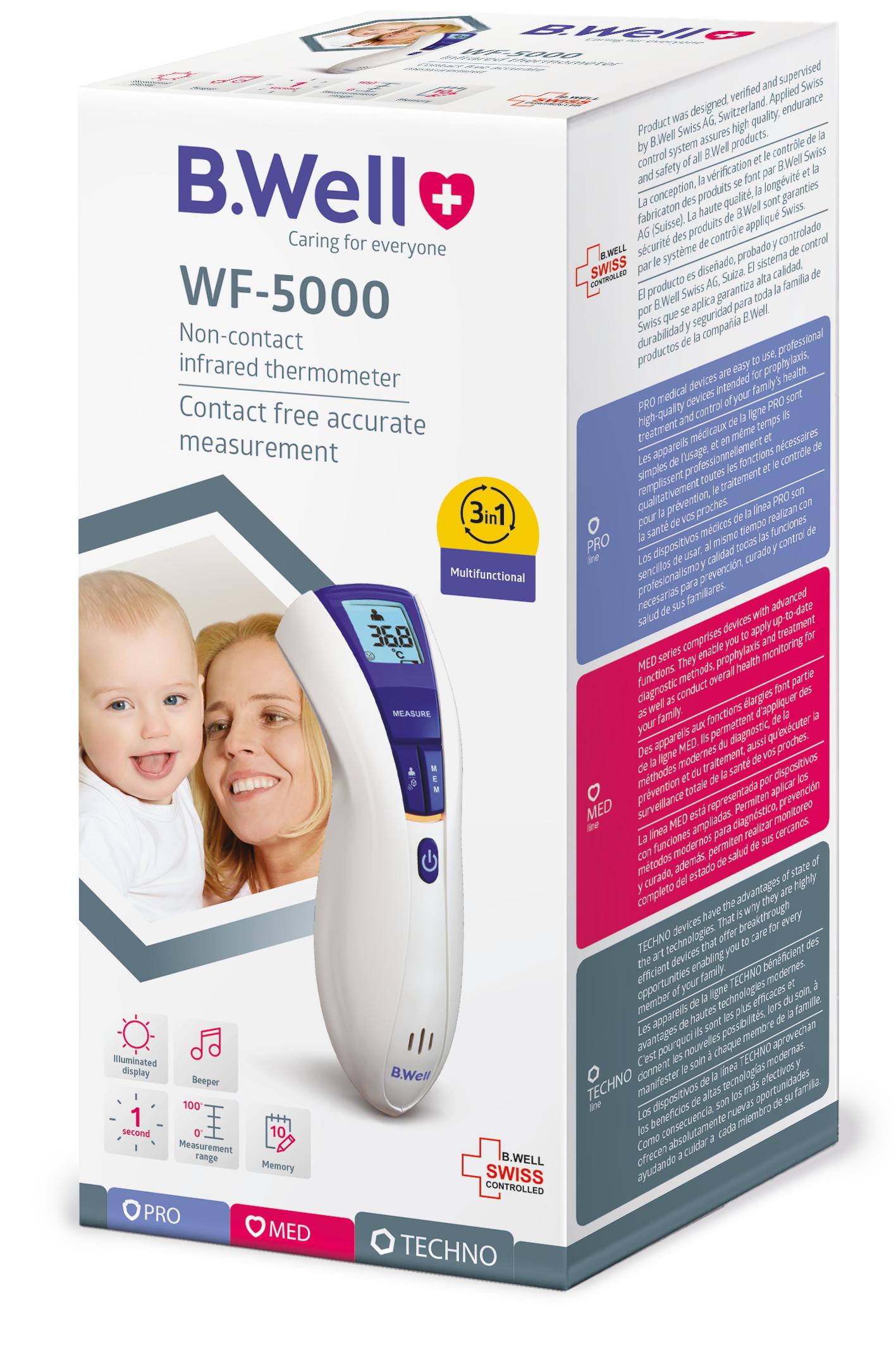 Nhiệt kế hồng  ngoại B.Well WF-5000 – Hàng Chính Hãng – đo kết quả trong vòng 1 giây