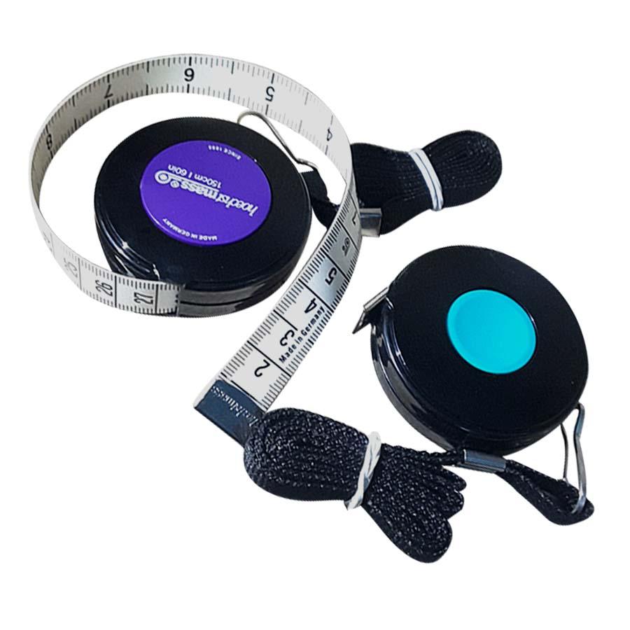 Combo 02 Thước dây cao cấp 150cm (Có dây đeo) - Bấm nút thu dây, nhỏ gọn tiện dụng
