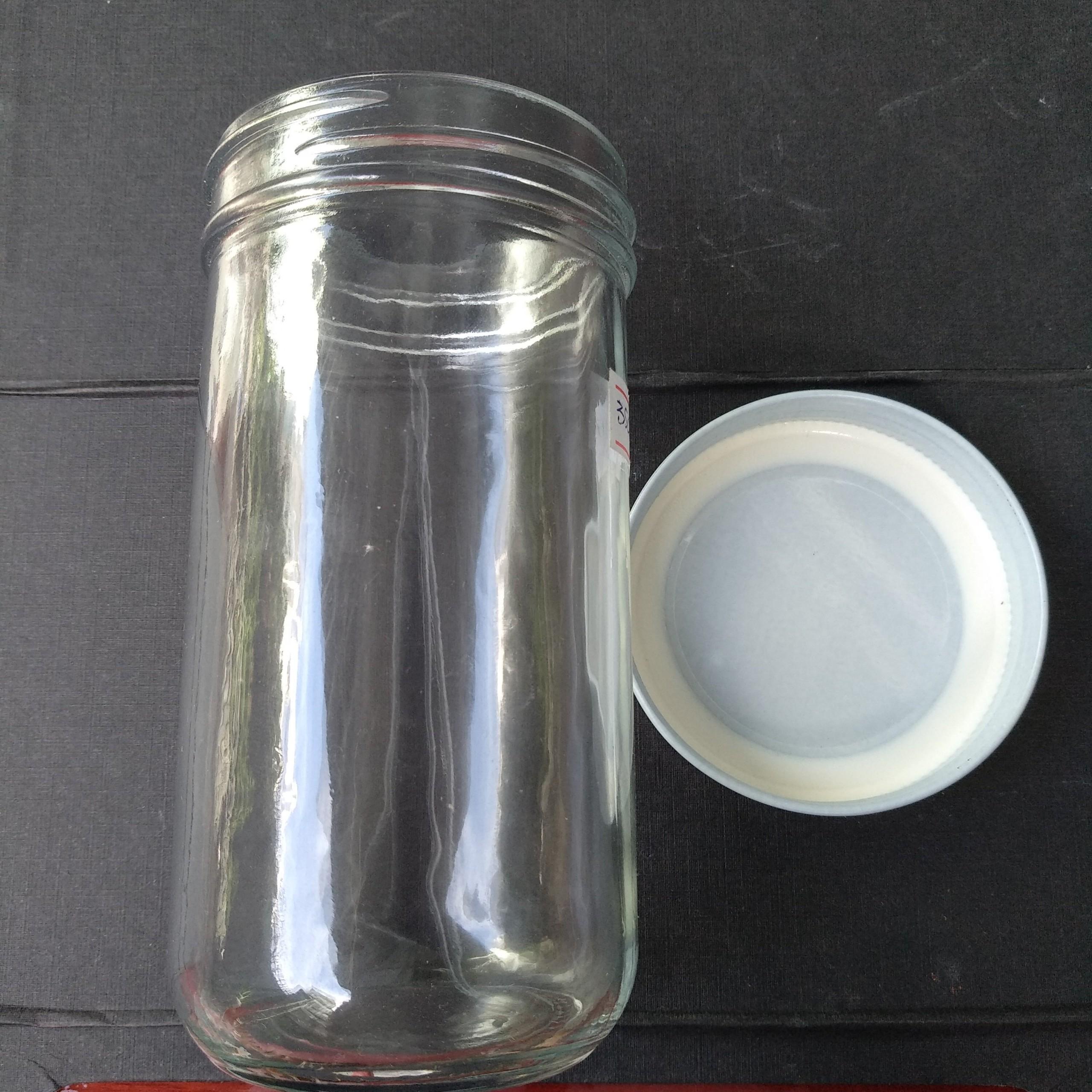 Set 6 hũ thủy tinh tròn nắp nhôm miệng rộng 350ml, đựng thực phẩm, bánh flan, sữa chua