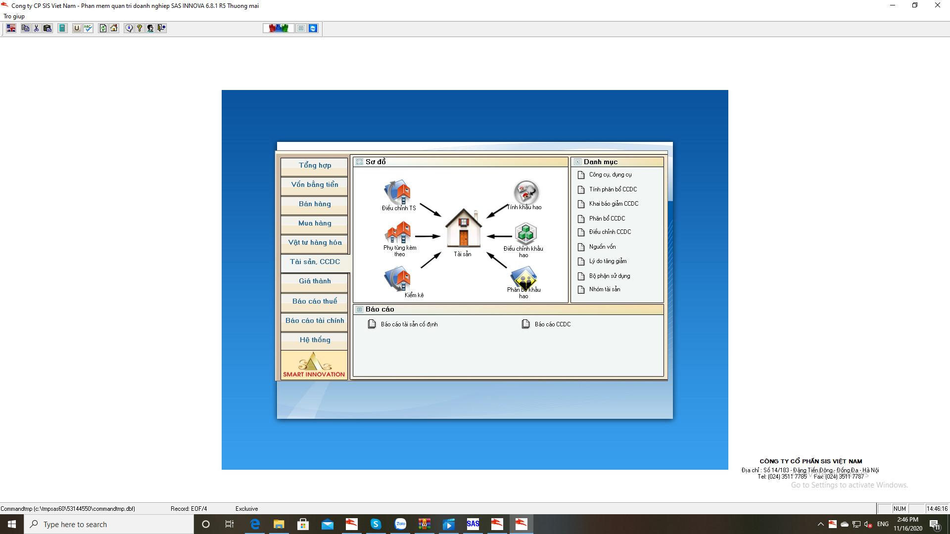 Phần mềm quản trị và Phần mềm kế toán theo đặc thù ngành nghề( SIS X) - Hàng chính hãng - Phù hợp cho mọi loại hình doanh nghiệp - Update liên tục thông tư quyết định của Bộ Tài chính