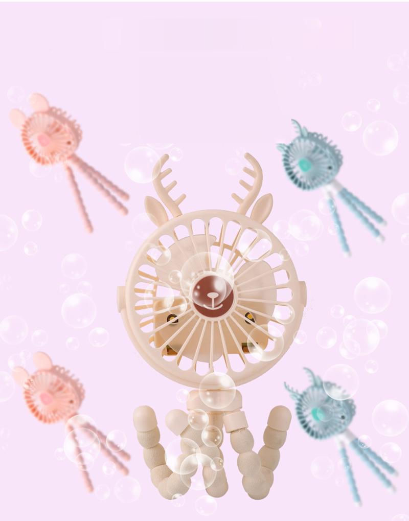 Quạt cầm tay pin sạc Bạch tuộc Octopus Tai Thú (Giao mẫu tai thú ngẫu nhiên, được chọn màu quạt)