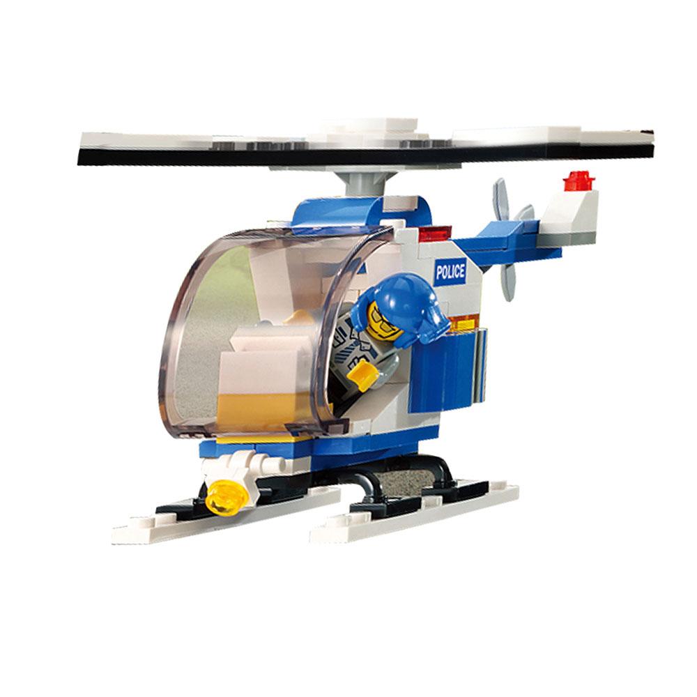 Đồ chơi lắp ráp cho bé Máy bay trực thăng Cảnh Sát Oxford ST33331 - gồm 104 mảnh ghép nhựa ABS cao cấp phát triển tư duy 8 tuổi