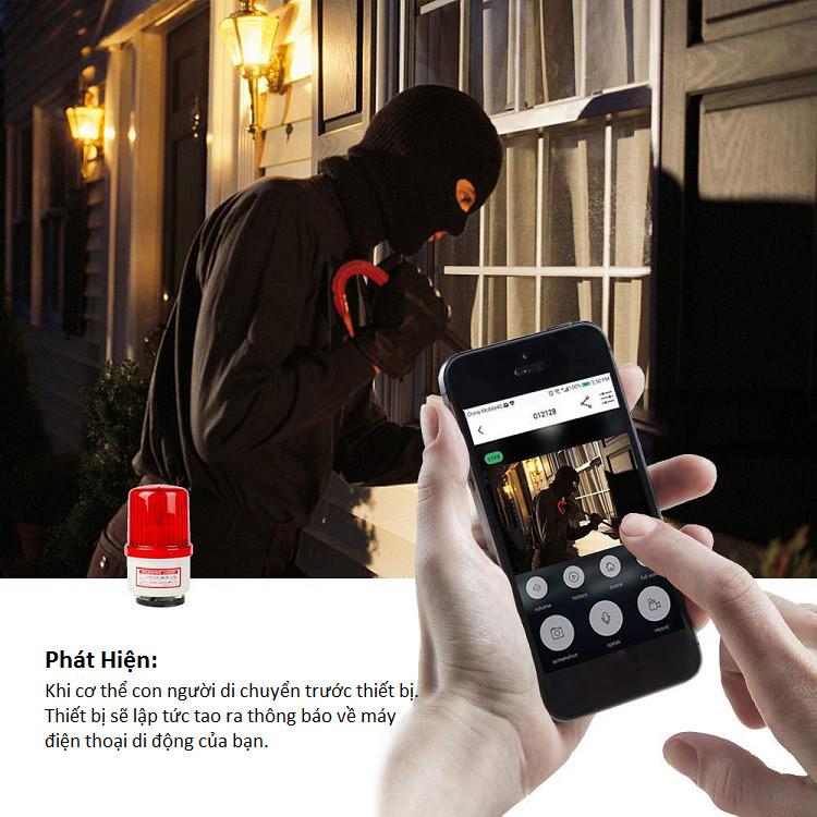 Chuông cửa hồng ngoại 1080P không dây cao cấp kết nối điện thoại di động thông minh (Tặng đèn led dán tường 4 bóng cao cấp)