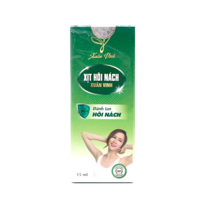 Xịt Hôi Nách Xuân Vinh 15ml – Giúp diệt khuẩn, làm sạch, làm thơm, khử mùi hôi vùng nách