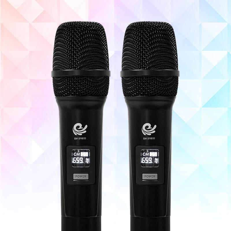Trọn Bộ 2 Micro Không Dây Việt Star Quốc Tế Cao Cấp Hát Karaoke Cực Hay Dùng Cho Loa Kéo, Amply, Tần Số VHF - Hàng Chính Hãng