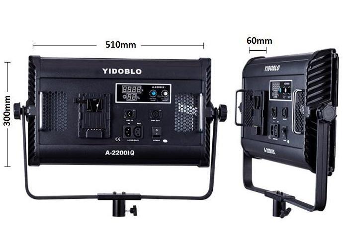 Bộ 3 đèn led bảng Studio 300w A-2200IQ Yidoblo