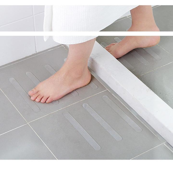 Sét 5 miếng dán chống trơn trượt trong suốt, băng dán sàn nhà, nhà tắm chống trượt ngãđộ bền cao, chịu được nước, dầu mỡ, chất tẩy rửa