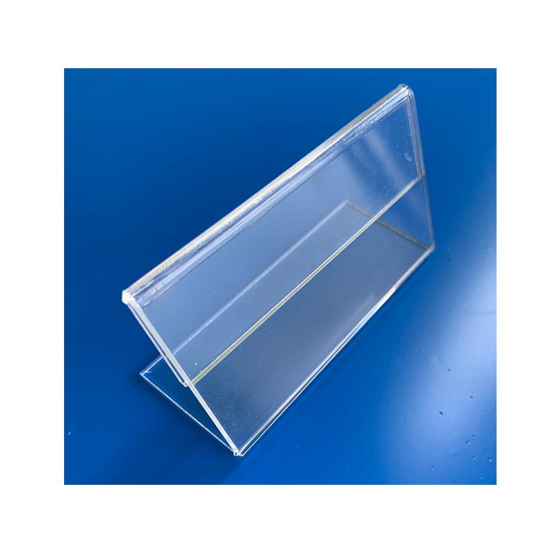 Combo 10 kệ để bảng giá thông tin sản phẩm kích thước 50x80mm - mica trong 2mm