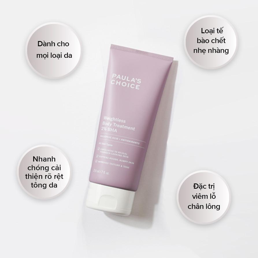 Kem dưỡng thể chứa 10% AHA Paula's Choice Skin Revealing Body Lotion 10% AHA 210ml (Nhập khẩu)