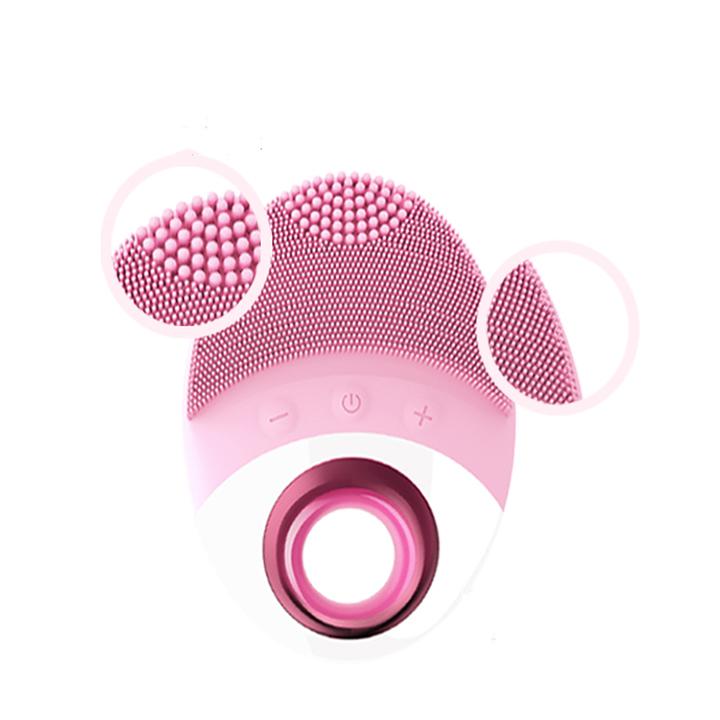Máy massage mặt - Máy rửa mặt sợi gai silicon mềm mịn kháng khuẩn JJOL-09 ( Màu ngẫu nhiên )