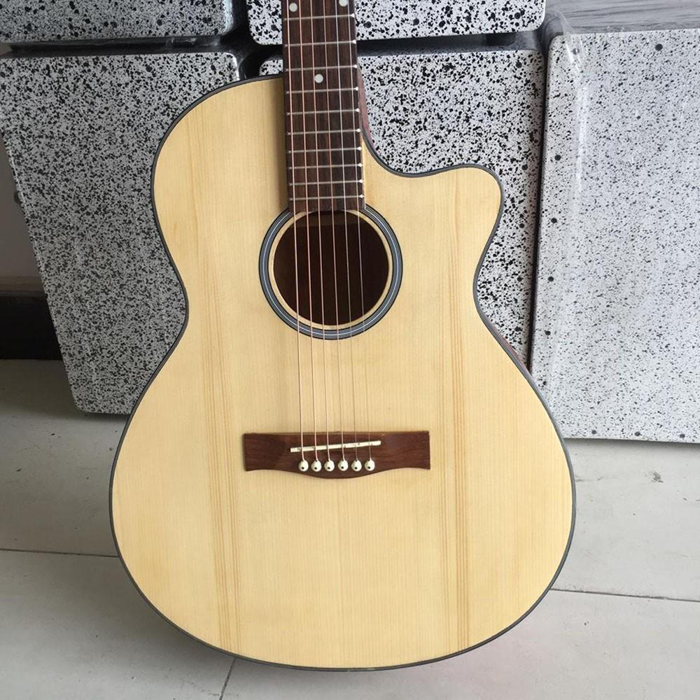 Đàn guitar acoustic SV1 mặt gỗ thông - đàn chuyên tập chơi