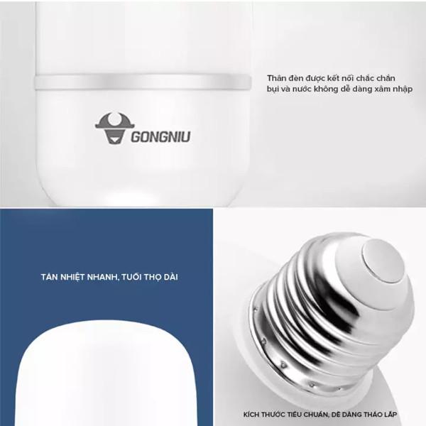 Bóng đèn LED Bulb Trụ Gongniu MQ-C14062 - Công suất 40W - Hàng chính hãng 100% (Ánh sáng trắng)
