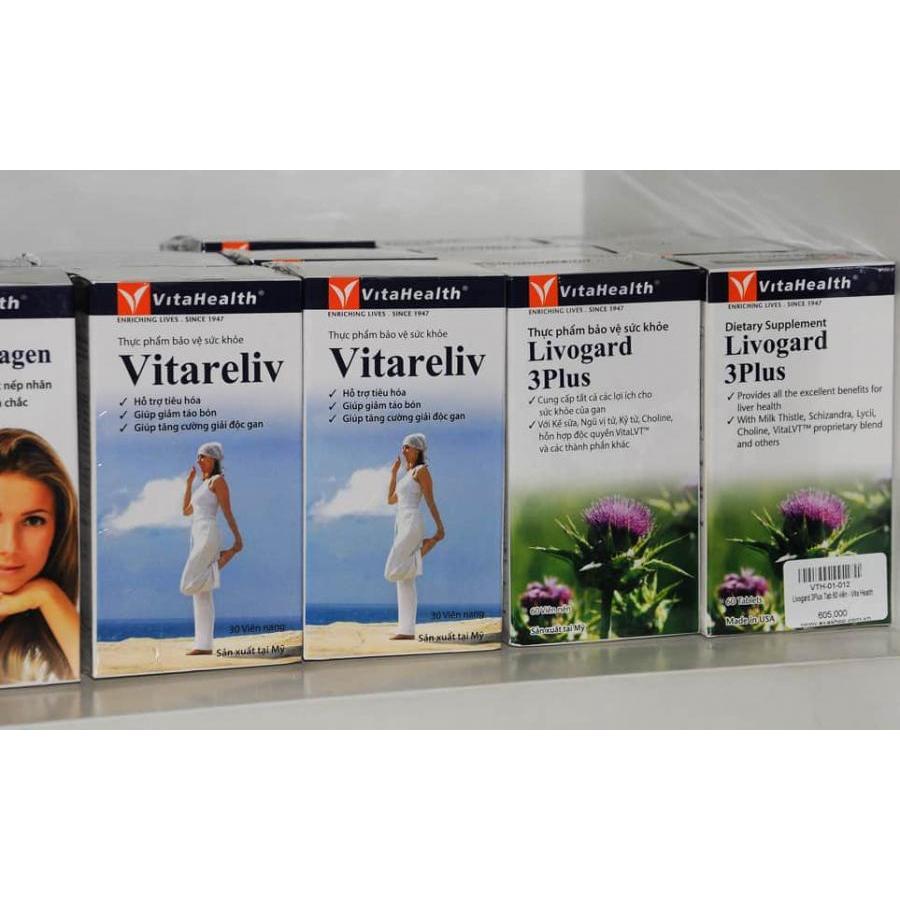 Thực Phẩm Chức Năng Viên Uống Tăng Cường Chức Năng Gan Livogard 3Plus Tab 60 Viên - Vita Health