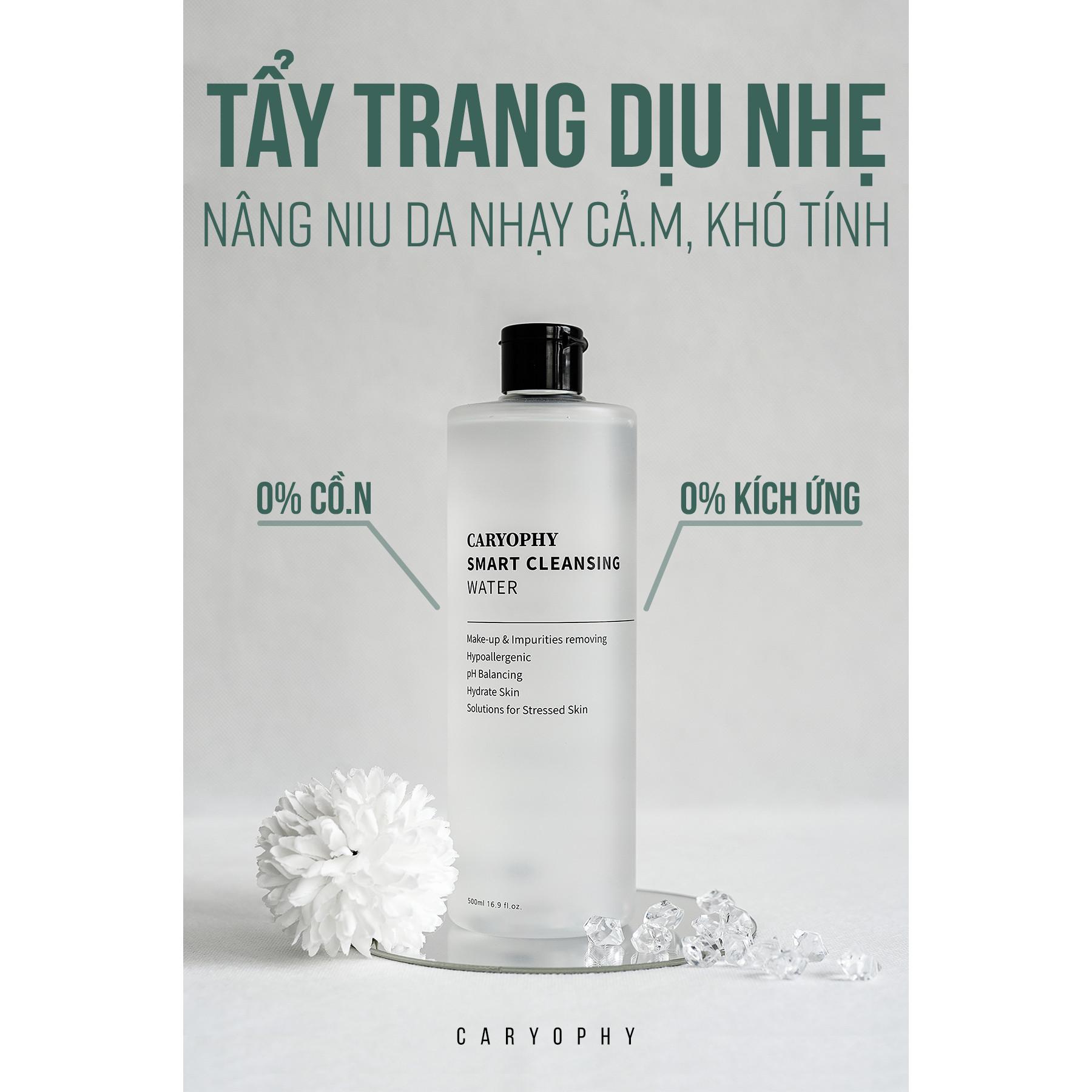 Nước Tẩy Trang Thông Minh Caryophy Smart Cleansing Water - 300ml 500ml (Nước Tẩy Trang Ngăn Ngừa Mụn)
