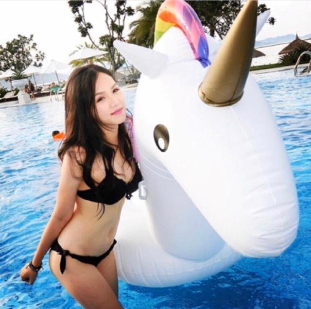 Phao Bơi Kì Lân Khổng Lồ Người Lớn Kèm Bơm + Phao Mini