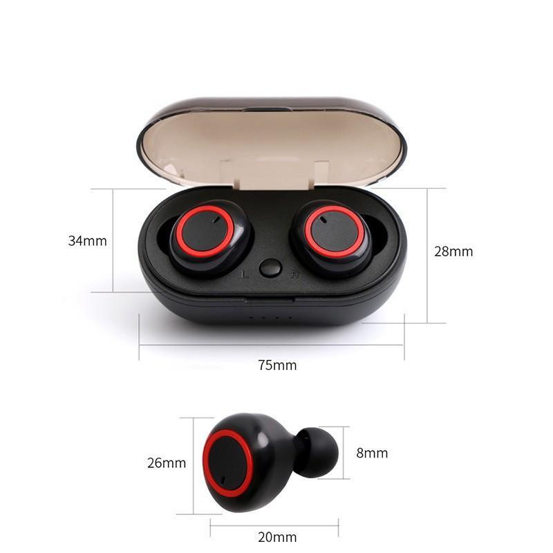 Tai nghe Bluetooth không dây TWS4 V5.0 dùng cho iphone, android có mic chống ồn, cảm biến hồng ngoại TN14