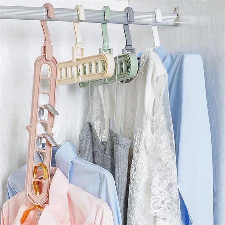 Combo 10 móc treo quần áo đa năng 9 lỗ tiện dụng