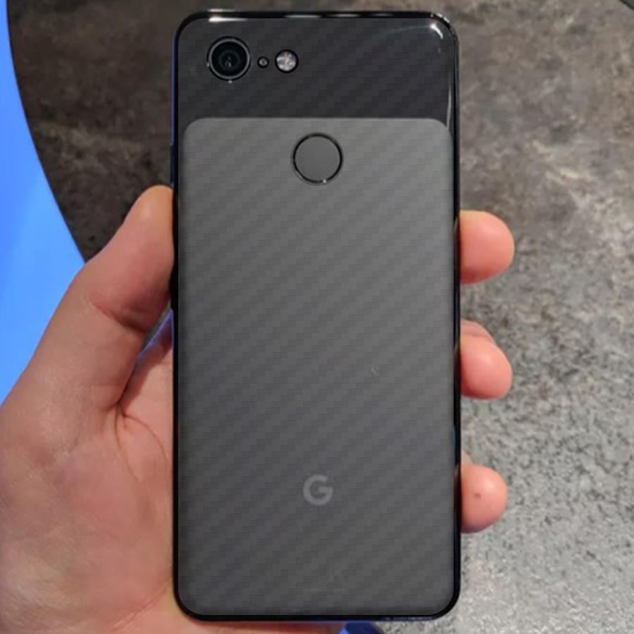 Miếng Dán Mặt Lưng Cacbon Dành Cho Google Pixel 3- Handtown - Hàng Chính Hãng