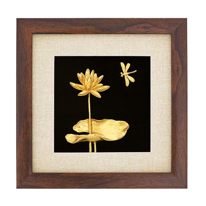 Bức Tranh Hoa Súng mạ vàng 24K để bàn: Quà tặng cao cấp, ý nghĩa, độc đáo mừng tân gia, tri ân khách hàng, tặng người nước ngoài - Golden Gift Việt Nam