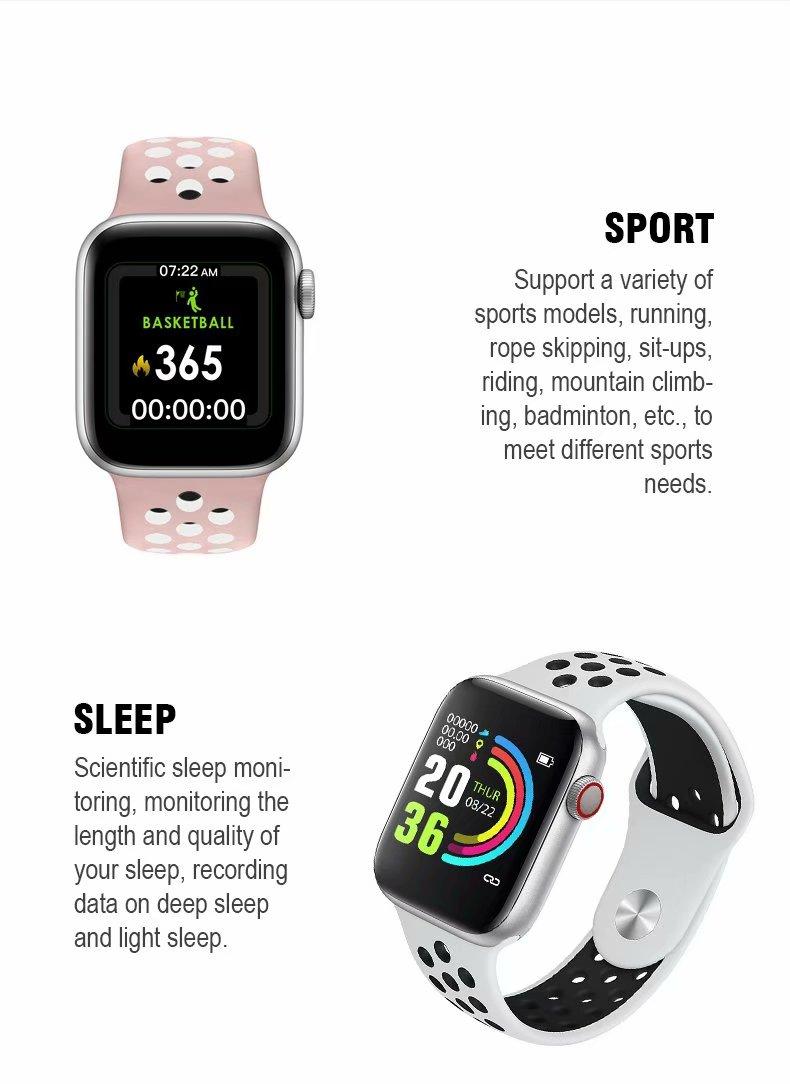 Đồng hồ thông minh Smart Watch theo dõi sức khỏe Watch 5 theo dõi nhịp tim vận động ( Giao màu ngẫu nhiên)
