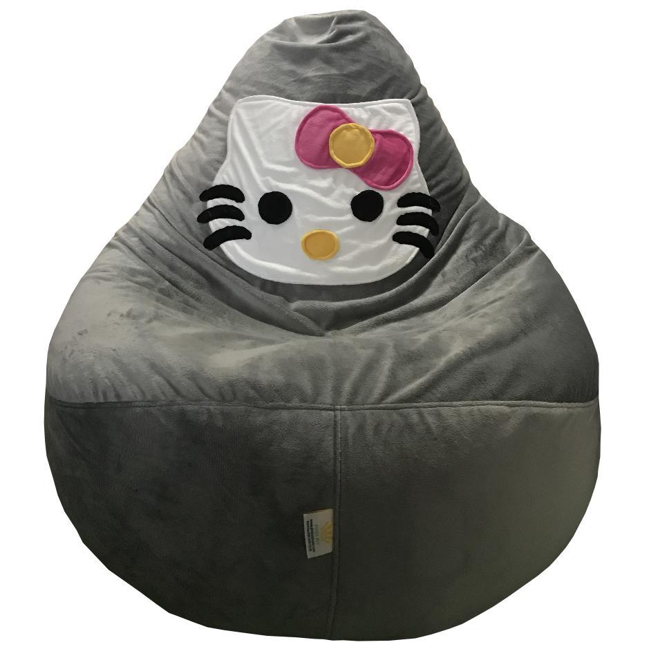 Ghế lười hat xốp Quả lê trang trí Hello Kitty GH-QULE-HKTY