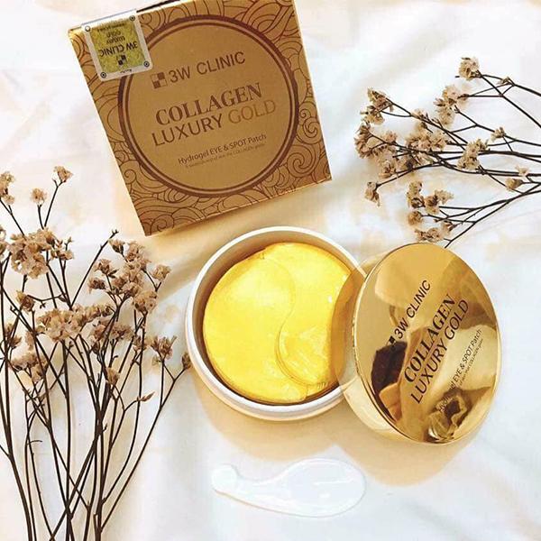Mặt Nạ Hỗ Trợ Điều Trị Xóa Nhăn Vùng Mắt 3W Clinic Collagen Luxury Gold (90g)