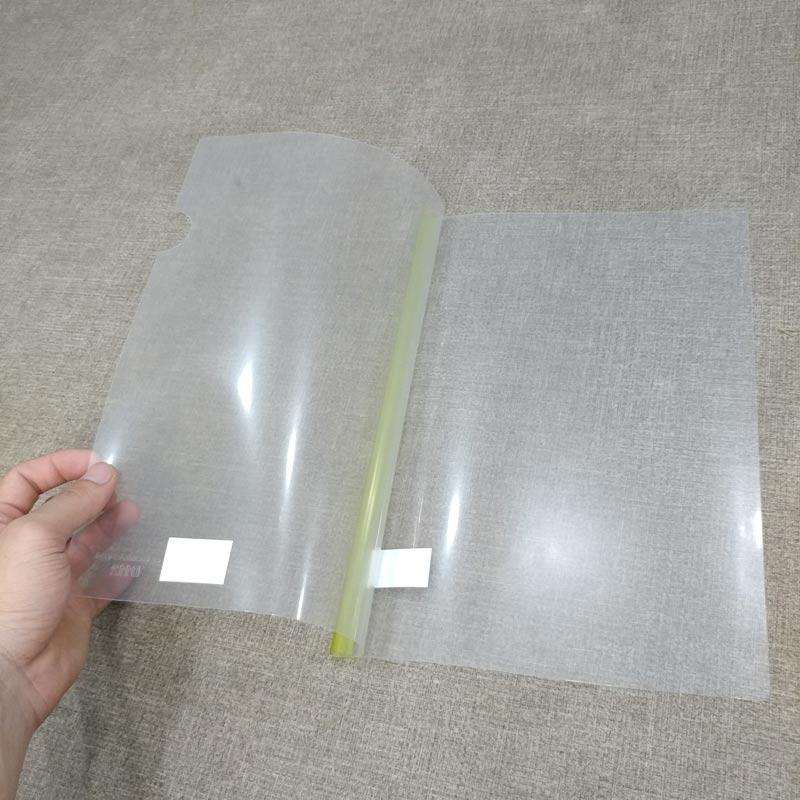 Bộ 3 Bìa Rút Gáy Stacom Nhựa Trong D112 - Màu Vàng
