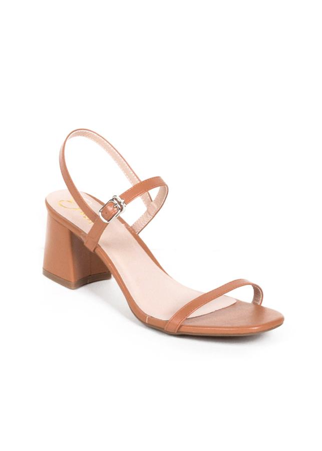 Giày Nữ, Giày Cao Gót Vuông Block Heels Erosska Quai Mảnh Tinh Tế Cao 7cm EM019 (Màu Cam Đất)