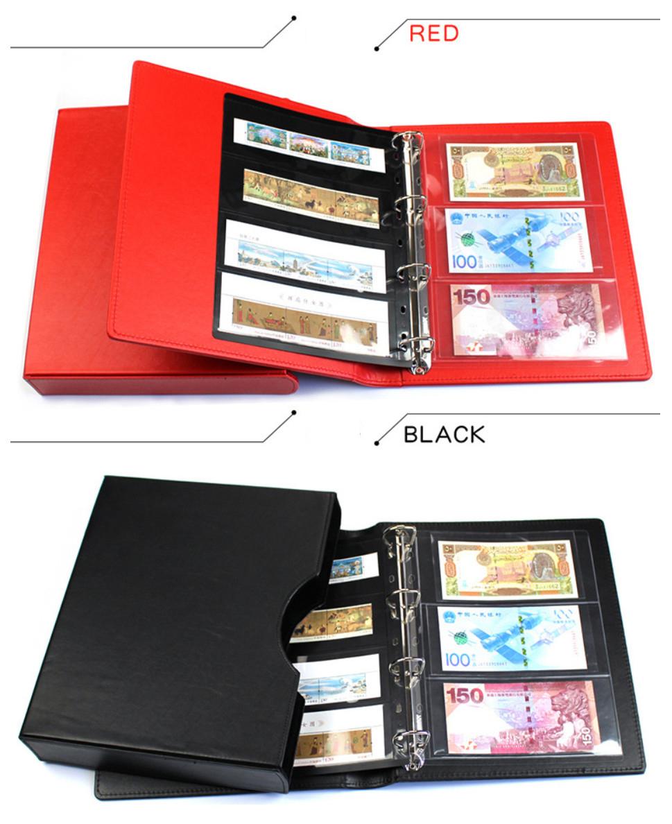 Bìa Album đựng tiền , tem Cao Cấp VIP có Hộp sang trọng chuyên nghiệp [không kèm phơi] (màu ngẫu nhiên)