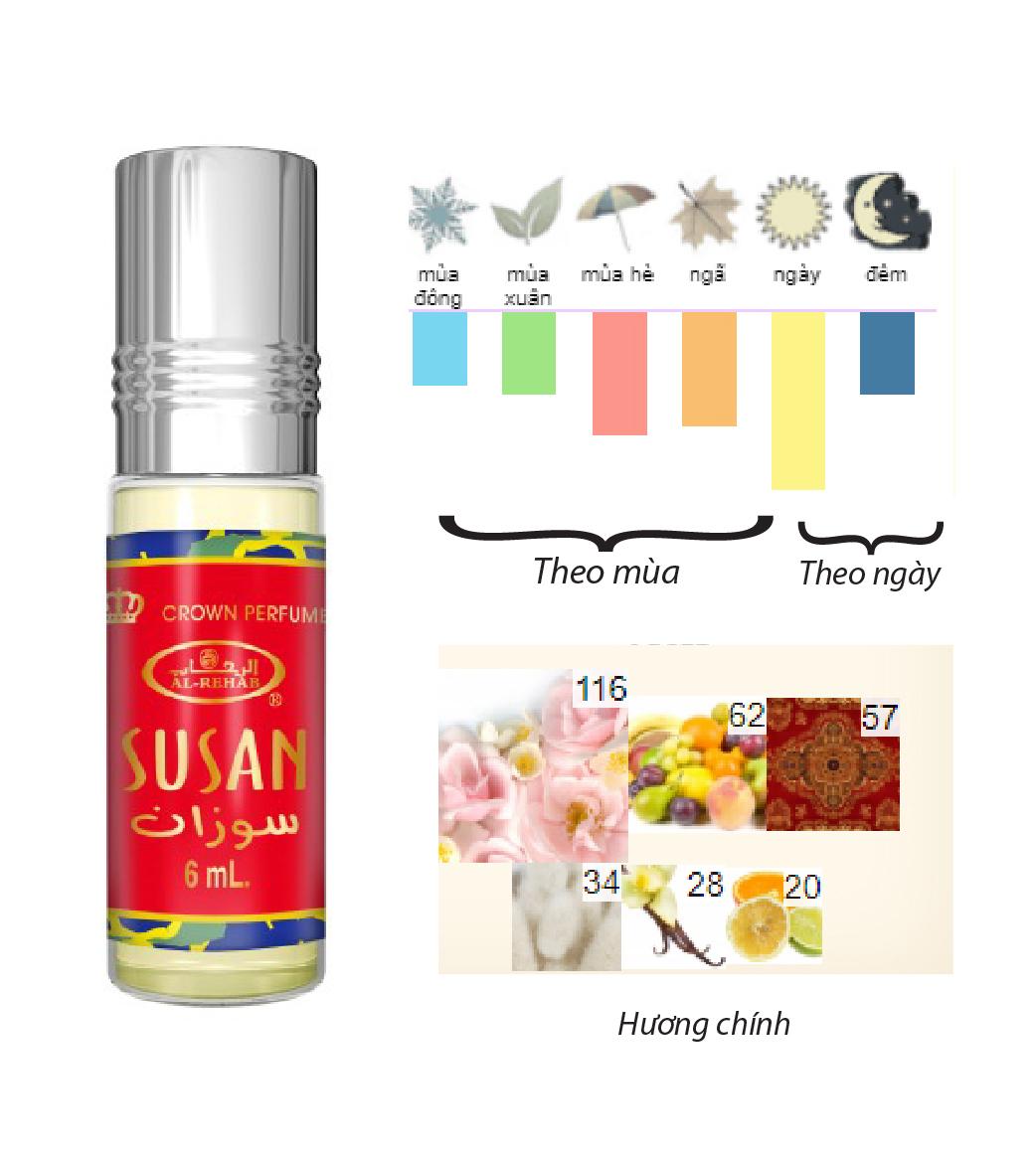 Tinh dầu nước hoa NỮ_ SUSAN Al-Rehab (hàng chính hãng )