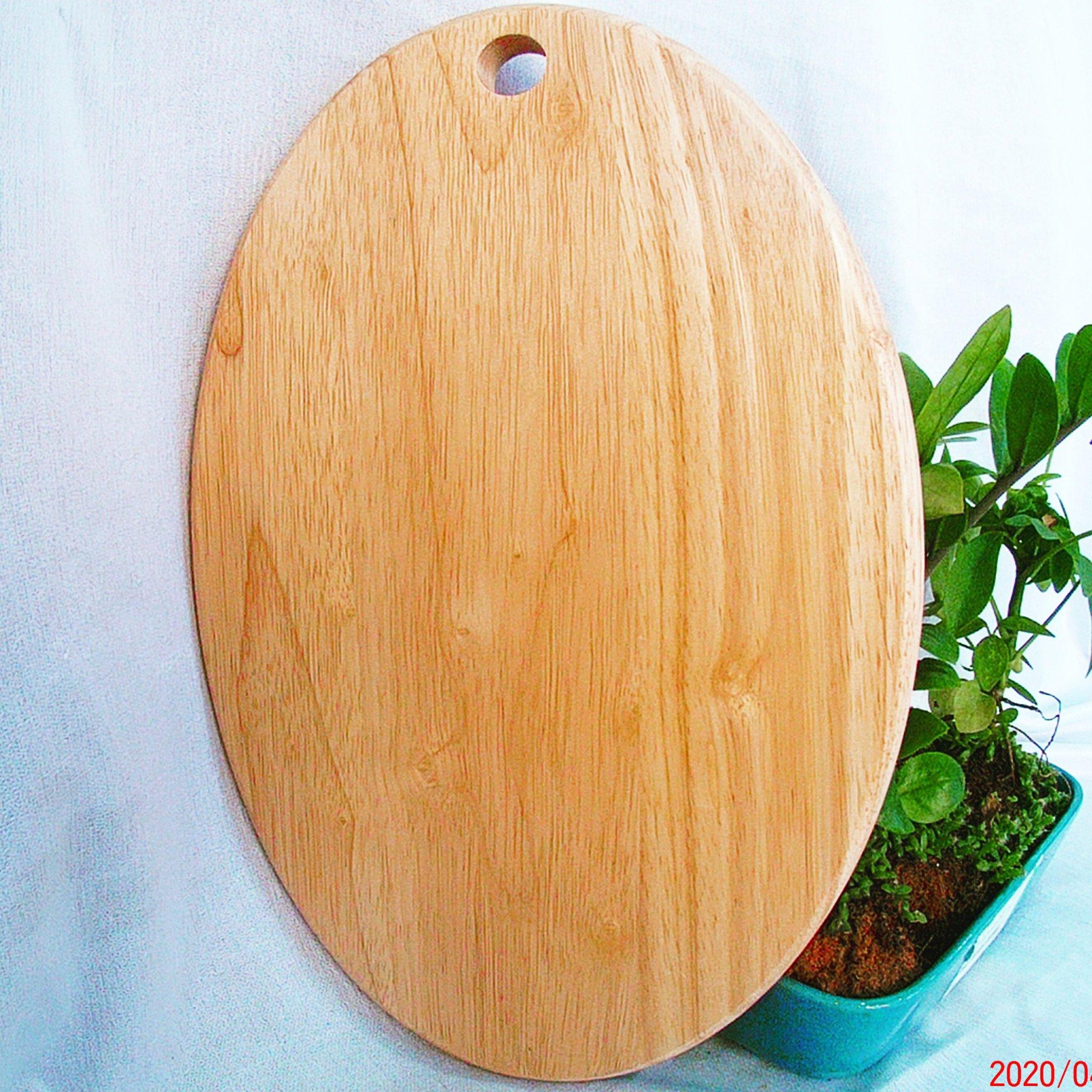 Thớt gỗ hình eclip nhỏ