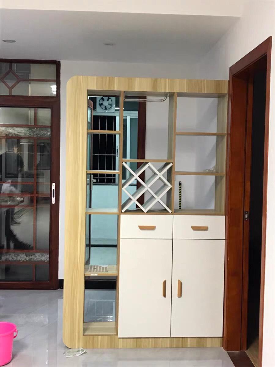 Kệ - Tủ rượu trang trí kiêm vách ngăn phòng khách kiêm tủ giày dép; cao 1m9 x Ngang 1m2 - Màu Trắng sồi