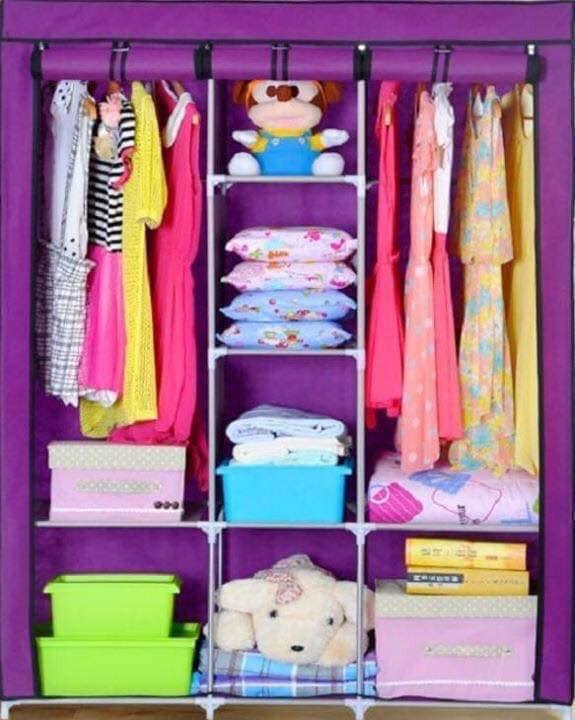 Tủ quần áo trơn 3 buồng 8 ngăn ( Giao màu ngẫu nhiên )