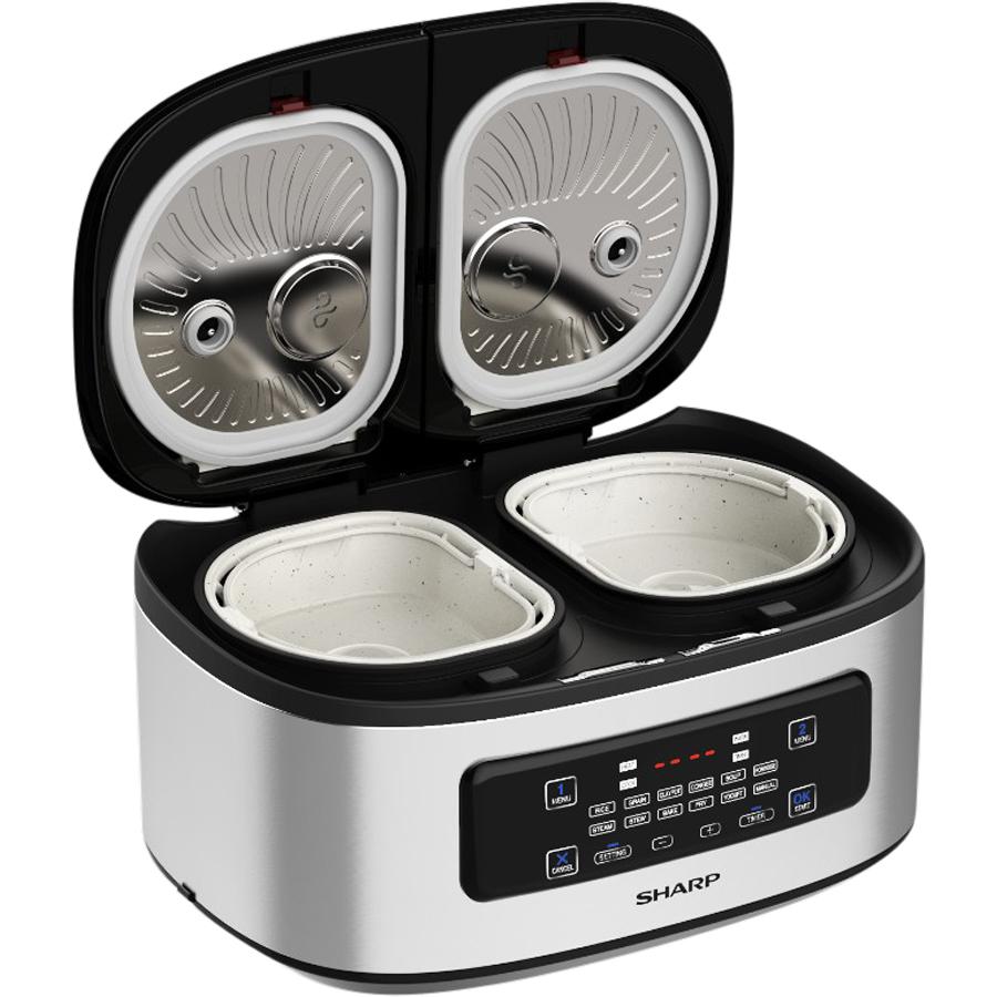 Nồi đôi đa năng Twin Cooker Sharp  KN-TC50VN-SL 1.8L - Hàng Chính Hãng