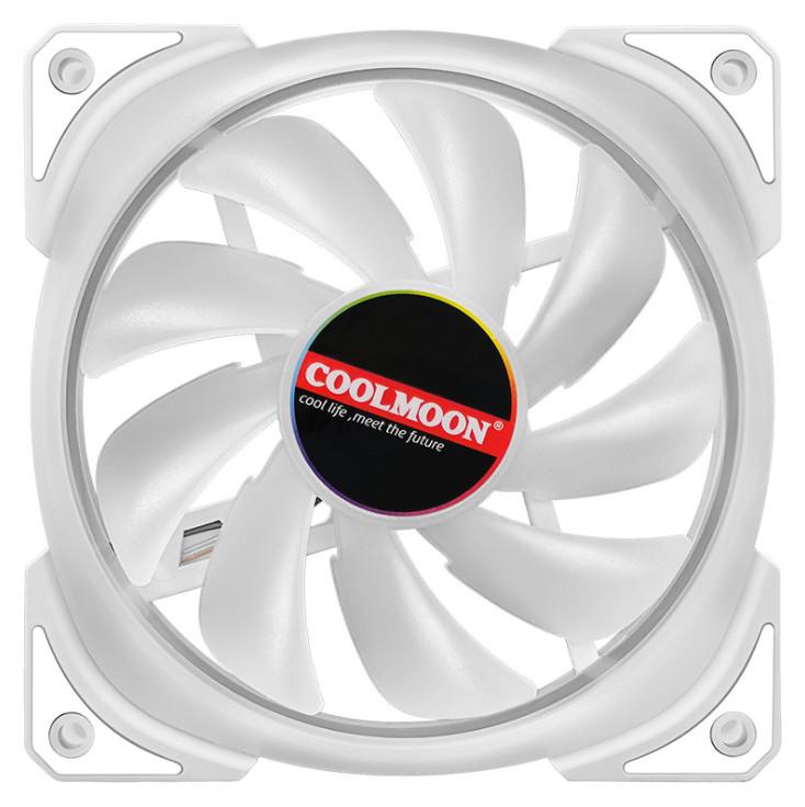 5 Quạt Tản Nhiệt, Fan Case Coolmoon Kèm Bộ Hub Và Remote - Hàng nhập khẩu