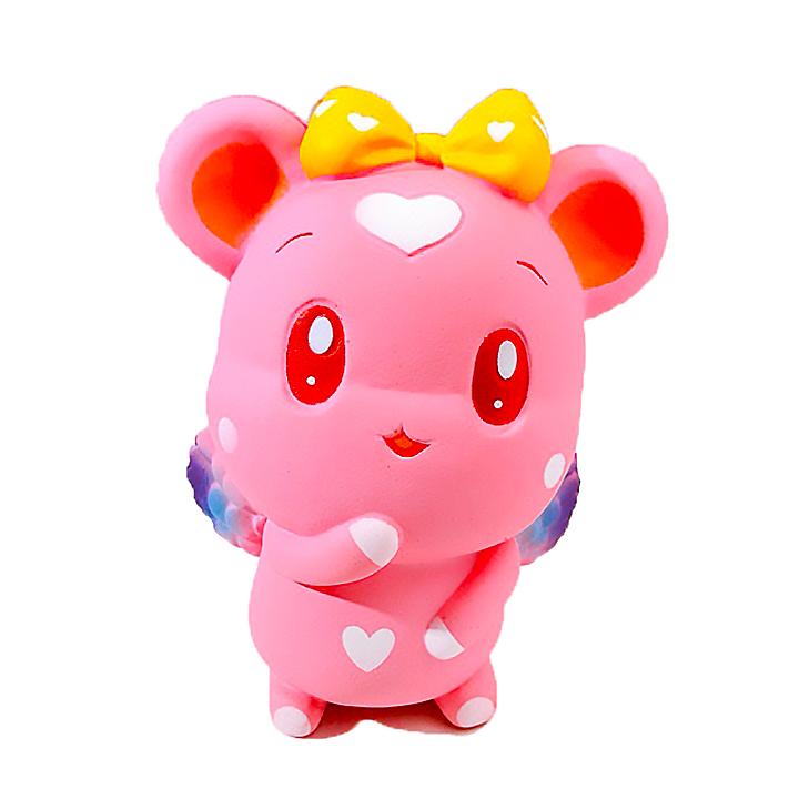 Squishy chuột hồng , squishy chậm tăng mùi thơm dịu nhẹ, đồ chơi cho bé trai và bé gái
