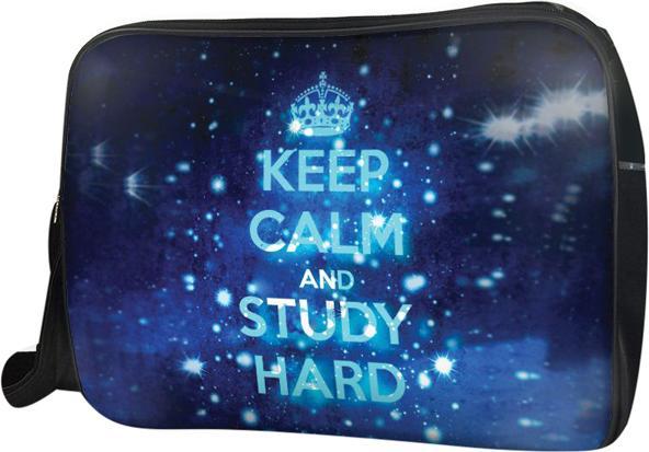 Túi Đeo Chéo Hộp Unisex Keep Calm & Study Hard - TCTE004 34 x 9 x 25 cm
