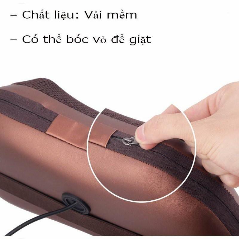 Gối Massage Cổ Hồng Ngoại 8 Bi