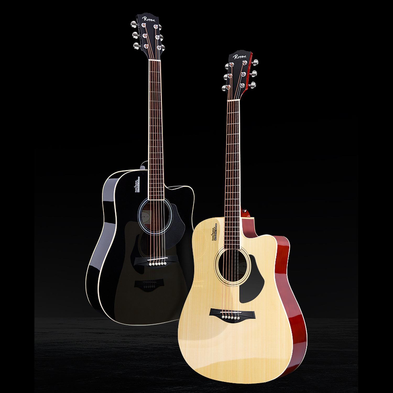 Đàn Guitar Acoustic Rosen G12 Màu Gỗ Dáng A (Size 40) G12NA Phân Phối Chính Hãng - Kèm móng gảy DreamMaker