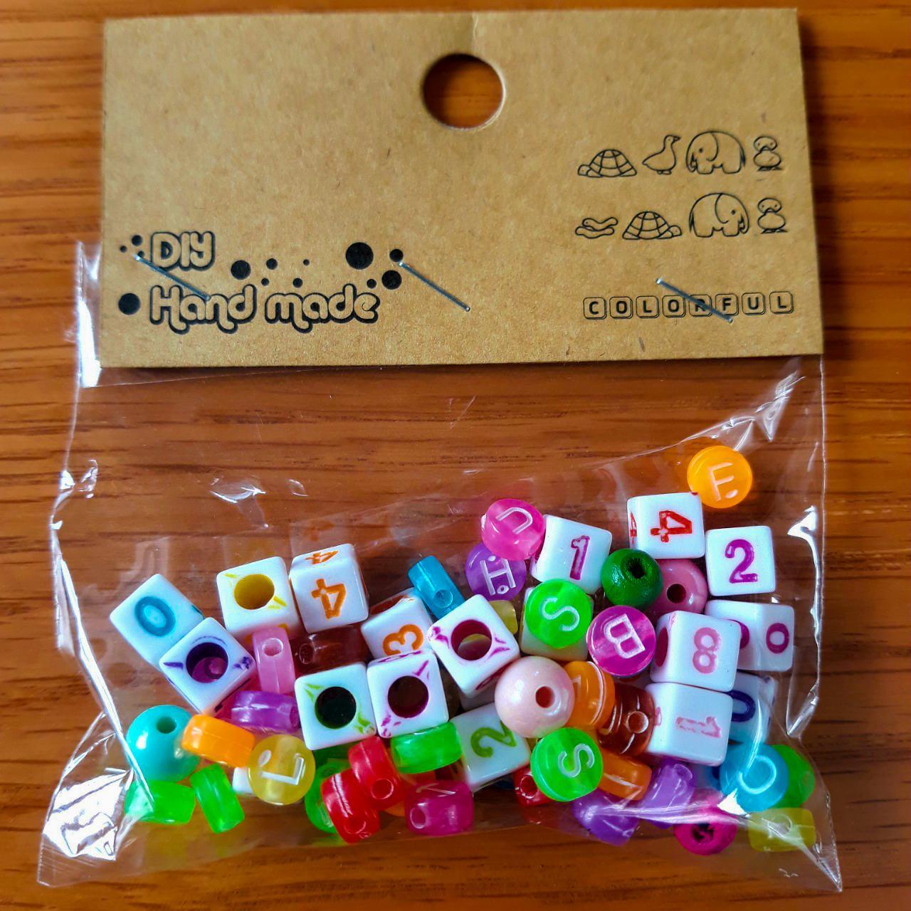 Set Bộ Hạt Nhựa Chữ Và Số Trang Trí, Làm Đồ Handmade - Mẫu Ngẫu Nhiên