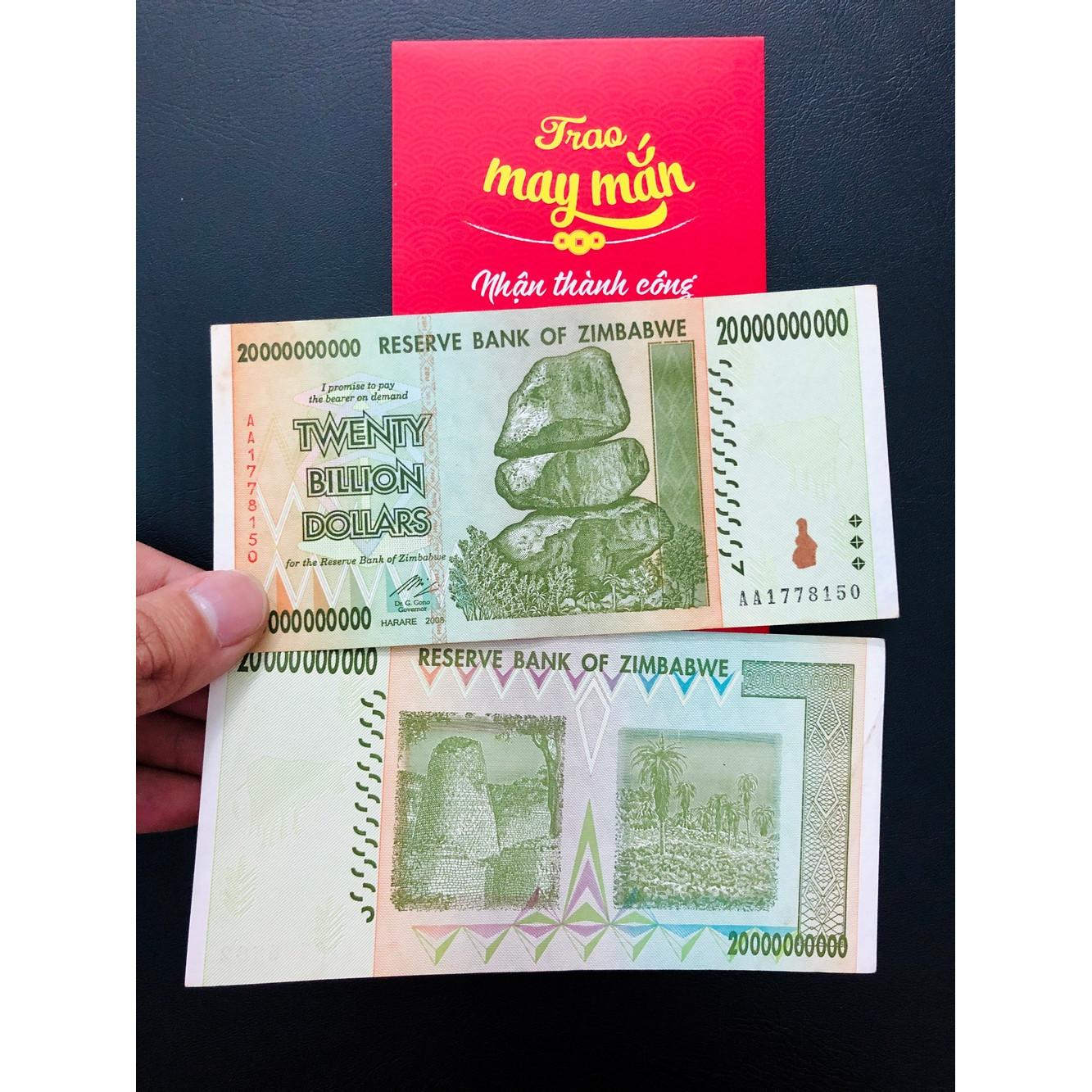 Tờ tiền xưa 20 Tỷ của Zimbabwe sưu tầm - The Merrick Mint